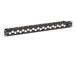 Black Box GigaTrue 24-Port CAT6A Staggered Blank 1U Patch Panel, C6AMP70-24, 33005385, Patch Panels
