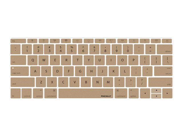 Macally Keyboard Cover, Gold, KBGUARDMBGD, 26135245, Protective & Dust Covers