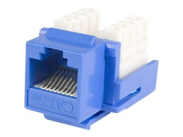 StarTech.com Cat5e RJ45 Keystone Jack Blue - 110 Type, KEYSTONE110B, 16275130, Premise Wiring Equipment