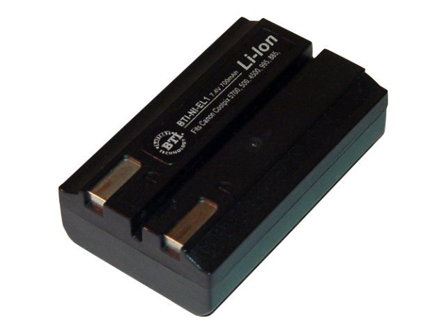 BTI Battery, Lithium-Ion, 7.4V, 650mAh, for Nikon COOLPIX 4500, 5000, 5700, 775, 880, 885, 995, NI-EL1, 7927263, Batteries - Camera