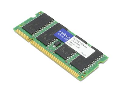 ACP-EP 1GB PC2700 200-pin DDR SDRAM SODIMM for Select Aspire, Extensa, Ferrari, TravelMate Models, 91.49V29.004-AA
