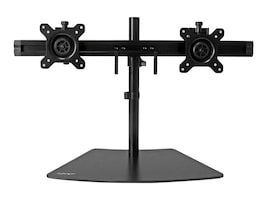 StarTech.com Dual Monitor Stand for Displays up to 24, Black, ARMBARDUO, 31579756, Stands & Mounts - AV