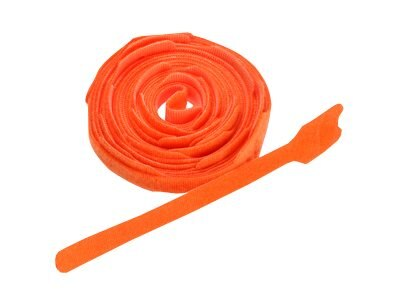 Leviton 8 Recloseable Velcro Tie Wrap, Orange, 25-Pack