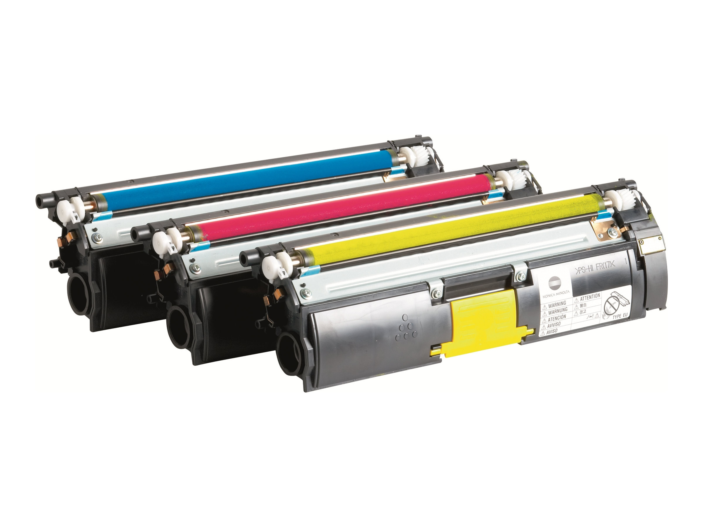 Konica Minolta Toner Value Kit - Cyan, Magenta & Yellow High Capacity Toner Cartridges for MagiColor 4650, A0DKJ32, 8164835, Toner and Imaging Components