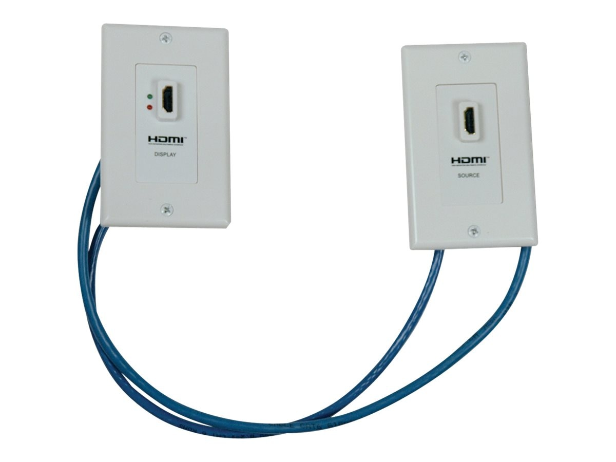 Tripp Lite HDMI Over Cat5 Cat6 Wallplate Extender Kit, P167-000