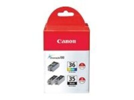 Canon PGI-35 CLI-36 Ink Cartridge Value Pack, 1509B007, 8572089, Ink Cartridges & Ink Refill Kits