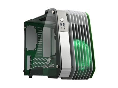 Enermax Chassis, Steelwing Micro ATX 1x3.5 Bay 1x2.5 Bay 3xSlots, Green