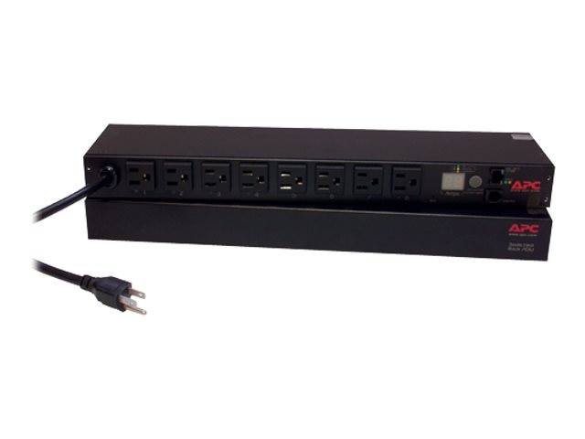 APC Rack PDU Switched 1U 15A 100 120V (8) 5-15R Outlets, AP7900, 452056, Power Distribution Units