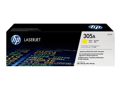 HP 305A (CE412AG) Yellow Toner Cartridge for HP LaserJet Pro Printers (TAA Compliant), CE412AG