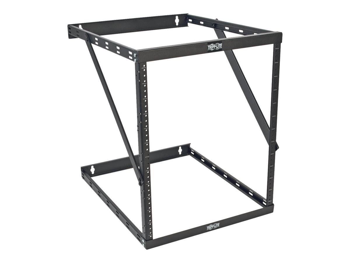 Tripp Lite SmartRack 8U 12U 22U Expandable Low-Profile UPS-Depth Wall-Mount 2-Post Open-Frame Rack, SRWO8U22DP