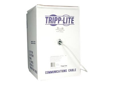 Tripp Lite Cat6 Solid Bulk Cable, Gray, 1000ft, pull-box, N222-01K-GY, 425488, Cables