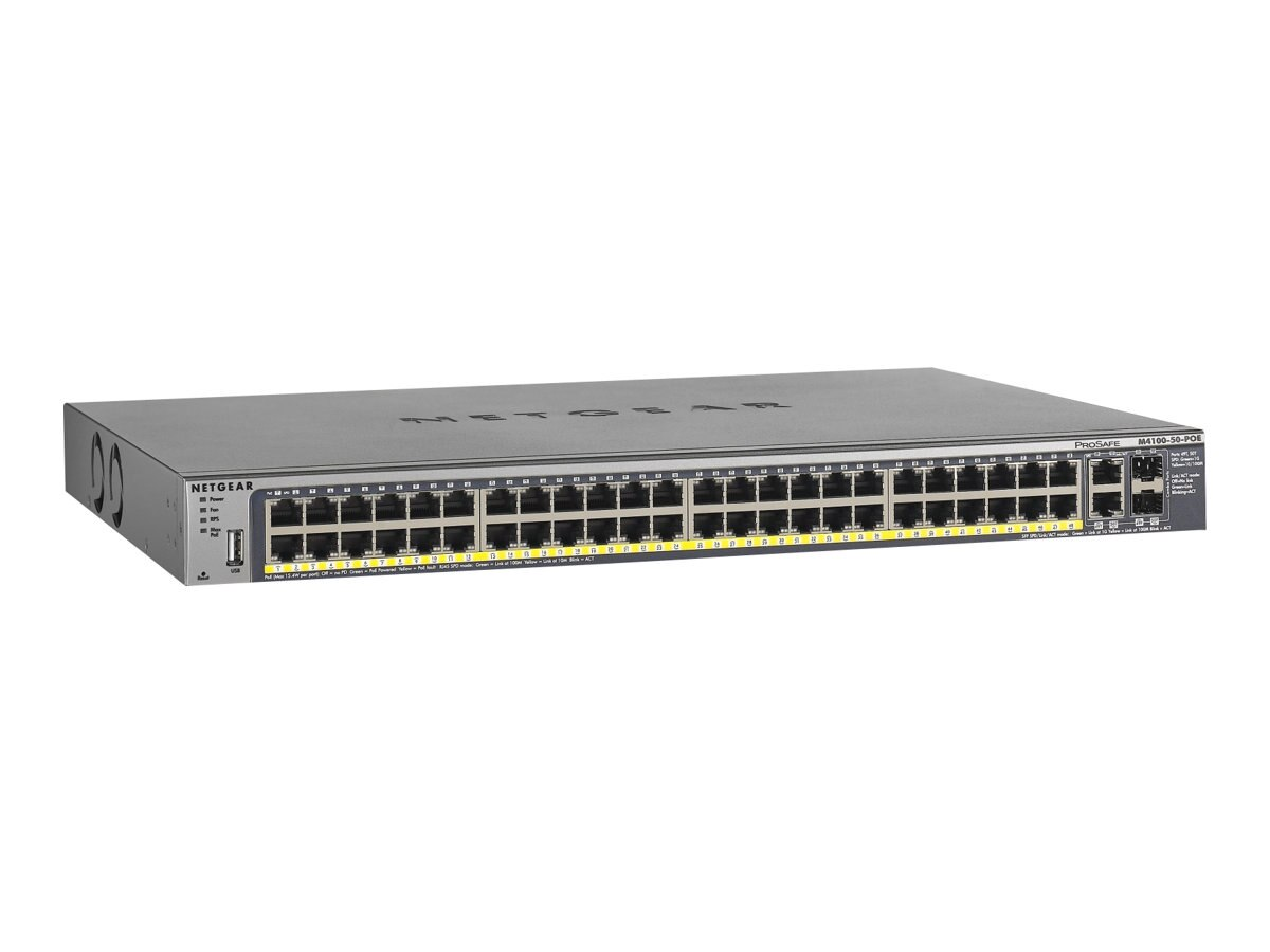 Netgear ProSafe M4100-50-PoE Rack Mount Managed Switch, FSM7250P-100NES, 15409597, Network Switches