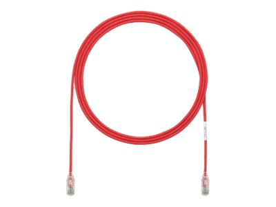 Panduit Cat6 28AWG UTP Patch Cable with TX6 Modular Plugs , Red, 3ft