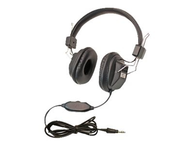 Califone Child Sized 3068AV Headphones w  Volume Control via ErgoGuys (10-pack), 1534BK-10L