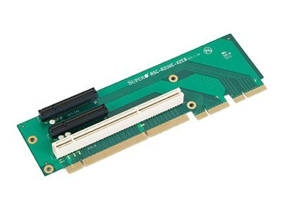 Supermicro 2U Riser Card, 2 PCI-EX8 and PCI-X, Left Slot, RSC-R2UXE-X2E8, 8033579, Motherboard Expansion