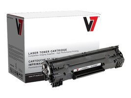 V7 Black Toner Cartridge for HP LaserJet M1522 & P1505, V736A, 11020841, Toner and Imaging Components