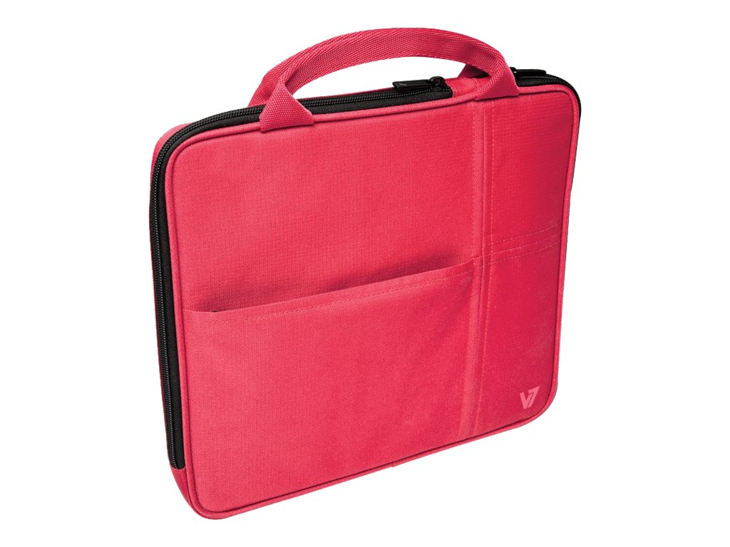 V7 Attache Slim Case for Tablet PC 9.7, iPad 1 2 3 4, iPad Air, Red, TA20RED-1N, 16584549, Carrying Cases - Tablets & eReaders