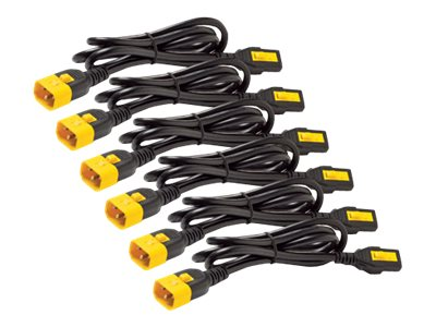 APC Power Cord Kit, (6) C13 to C14 90-degree Locking, 1.2m, AP8704S-WW, 17069995, Power Cords
