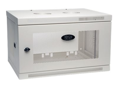 Tripp Lite SmartRack 6U Wall-Mount Rack Enclosure Cabinet, White