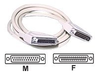 C2G IEEE 1284 Parallel Printer Extension Cable DB25M To DB25F 10 ft., 06100, 5861774, Cables