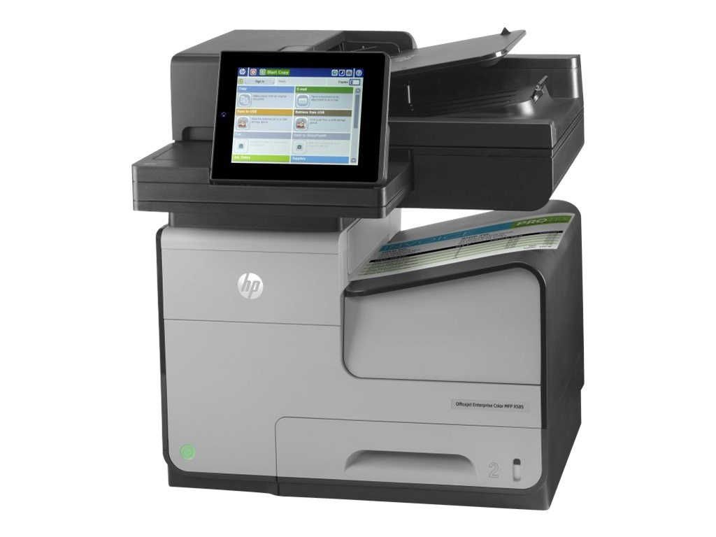 HP Officejet Ent X Series  X585dn Color MFP Printer $1,999 - $600 instant rebate=$1,399 expires 2 29 16