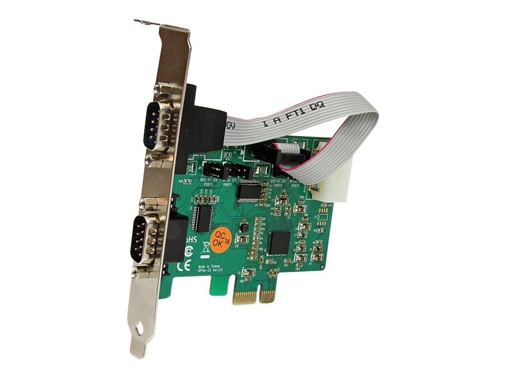 StarTech.com 2-Port Industrial PCI Express (PCIe) RS232 Serial Card w  Power Output and ESD Protection, PEX2S553S, 16190662, Controller Cards & I/O Boards