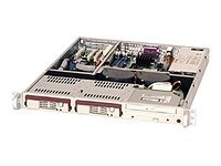 Supermicro Chassis, 1U, Rackmount, SC811T-420-INF, Xeon DP, 800 533MHz, 2x SATA Drive Bay, 420W PWS, Beige, CSE-811T-420-INF, 6425982, Cases - Systems/Servers