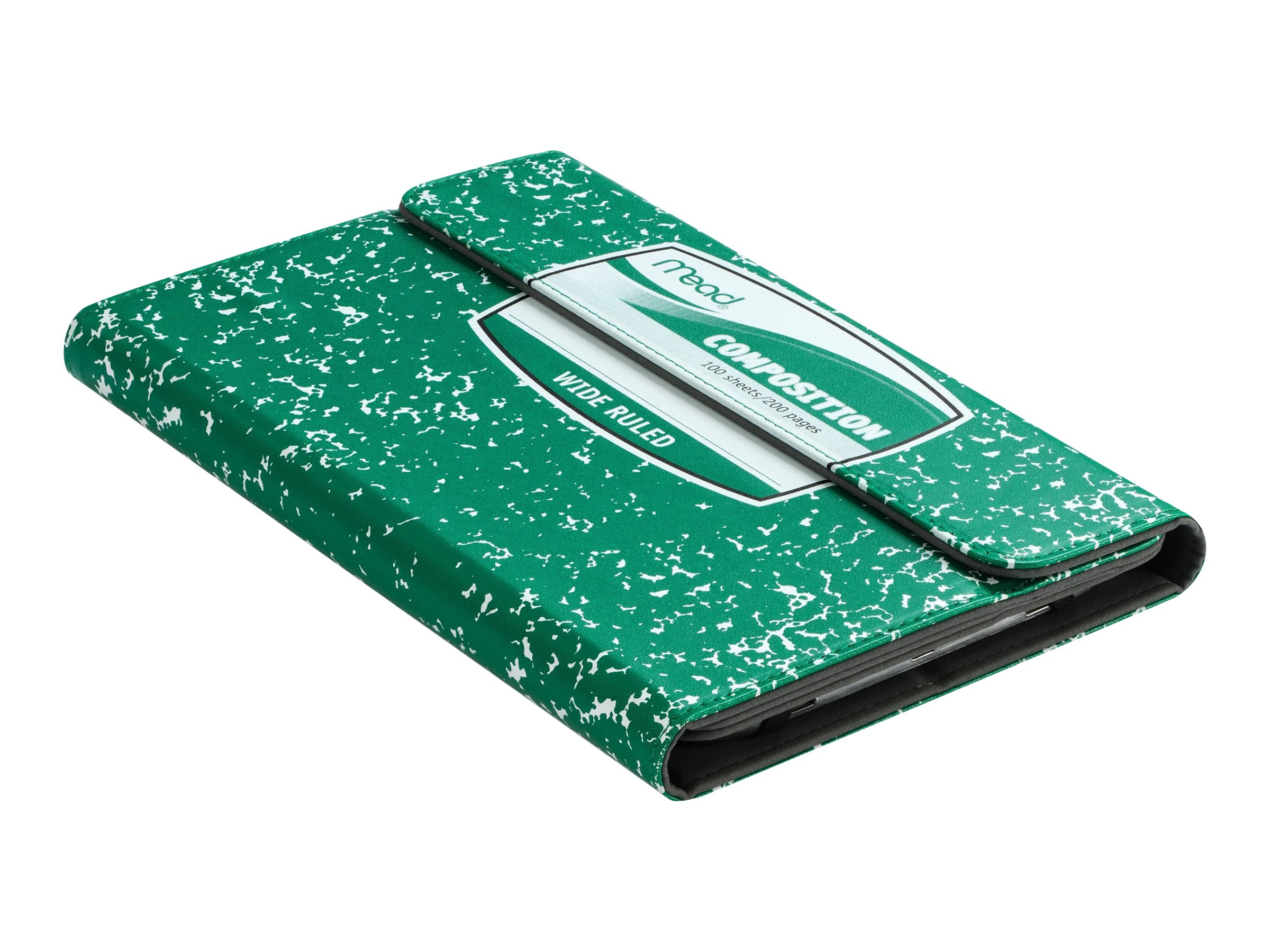 Kensington Composition Book Universal Case for 7 8 Tablets, Green, K97334WW