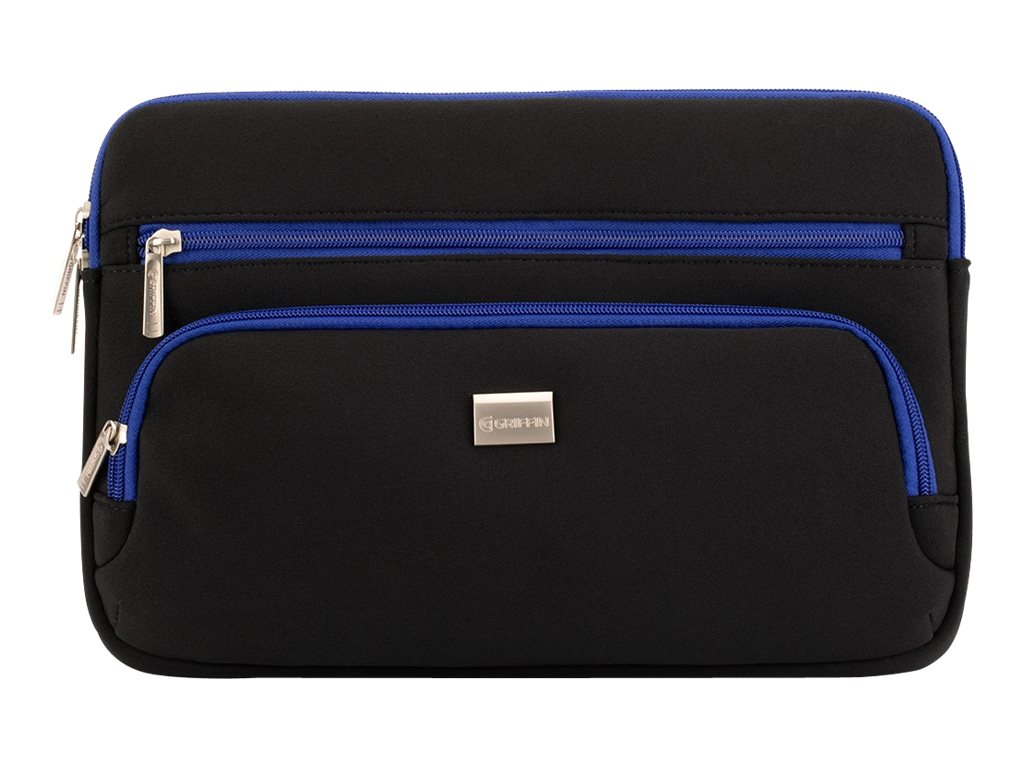 Griffin Chromebook Carry Case, Black Blue