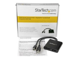 StarTech.com Mini DisplayPort to 2x DisplayPort MST Hub, MSTMDP122DP, 21730521, Video Extenders & Splitters