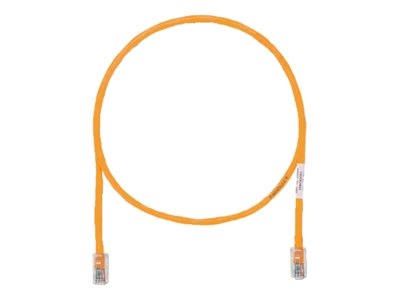 Panduit CAT5E UTP Copper Patch Cable, Orange, 9ft
