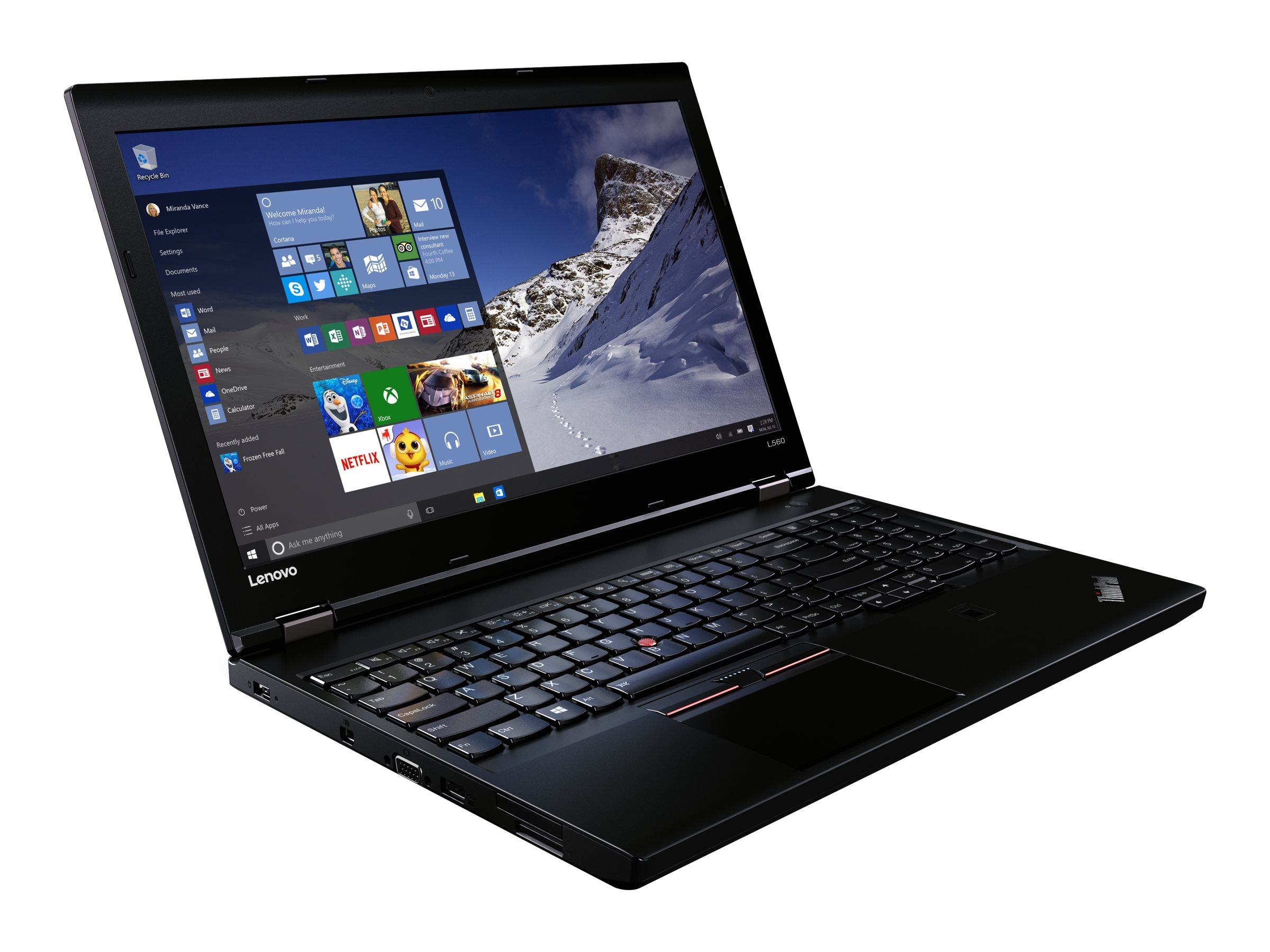 Lenovo TopSeller ThinkPad L560 2.4GHz Core i5 15.6in display, 20F1002AUS, 31866827, Notebooks