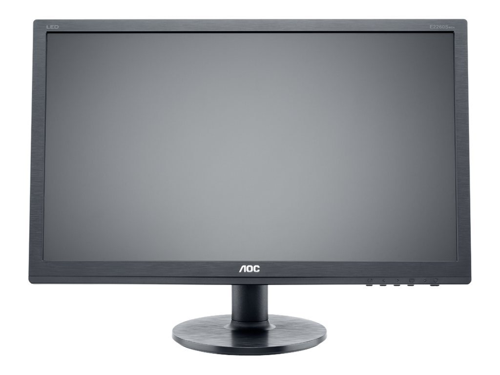 AOC 22 E2260SWDA LED-LCD Full HD Monitor, Black, E2260SWDA, 14506985, Monitors - LED-LCD
