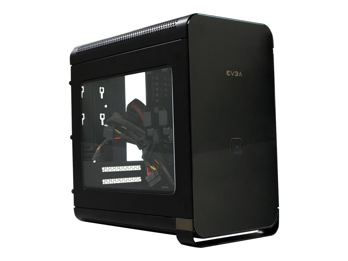 eVGA Chassis, Hadron Air mITX 2x2.5 or 3.5 Bays 500W Gold PSU, 110-MA-1001-K1, 31175081, Cases - Systems/Servers
