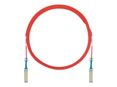 Panduit SFP+ to SFP+ Passive Twinax Copper Cable, Red, 3m
