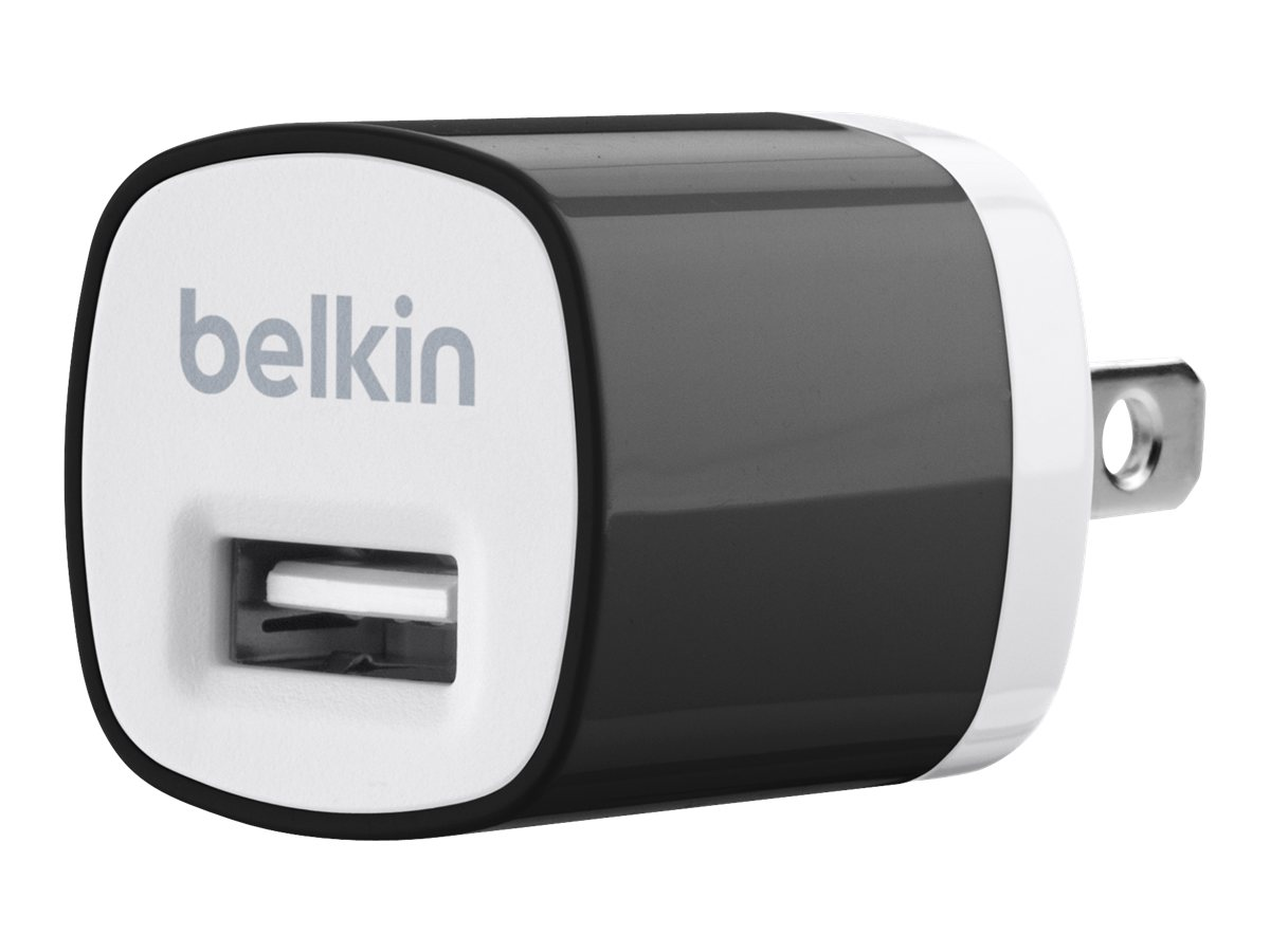 Belkin Mixit-up Home Charger for iPhone 5, Black, F8J017TTBLK, 14861039, Battery Chargers