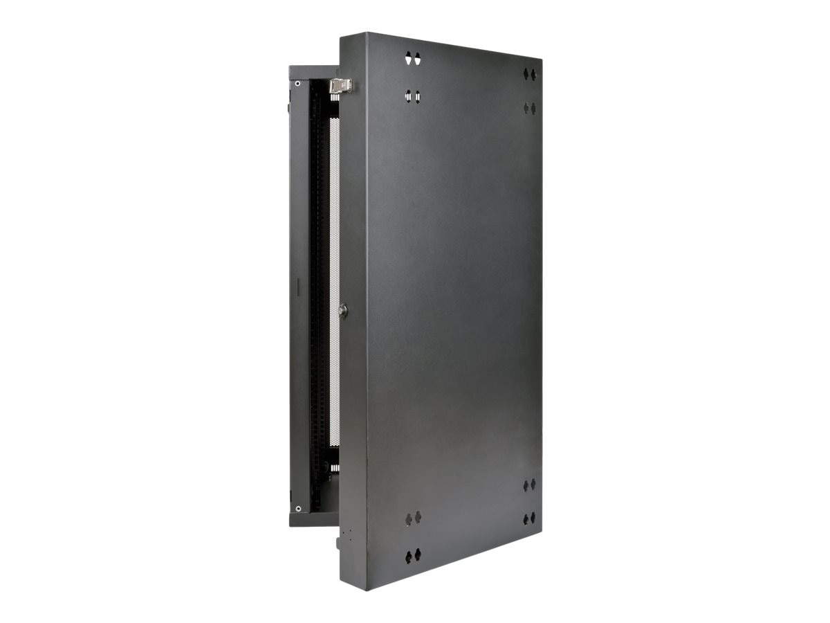 Tripp Lite SmartRack 26U UPS-Depth Wall-Mount Rack Enclosure Cabinet, Hinged Back, SRW26USDP