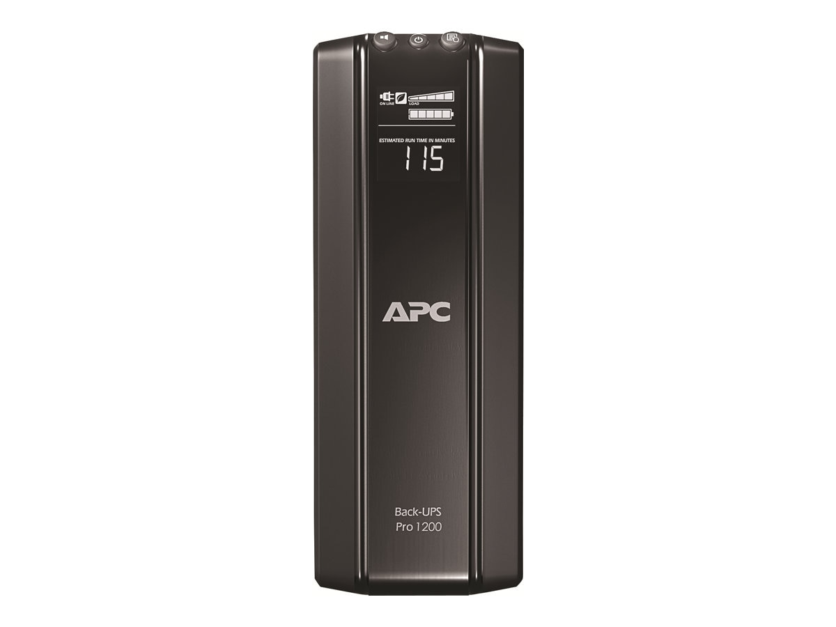 APC Power Saving Back-UPS Pro Int'l 1200VA 720W, 230V Tower C14 Input, (10) C13 Outlets Phone Data, BR1200GI, 12370640, Battery Backup/UPS