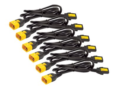 APC Power Cord Kit, Locking, C13 to C14, 2ft 0.6m (qty 6)