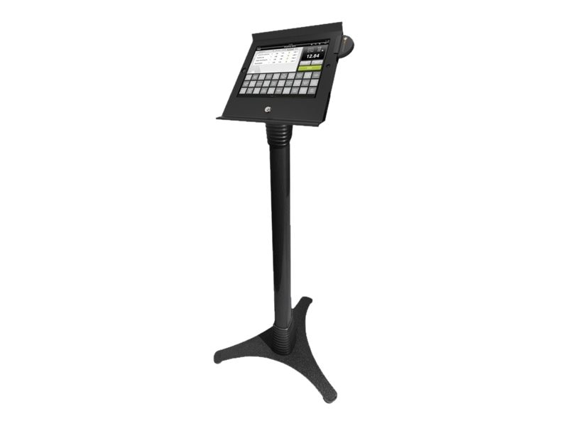 Compulocks iPad Slide POS Floor Stand, Black, 147B225POSB