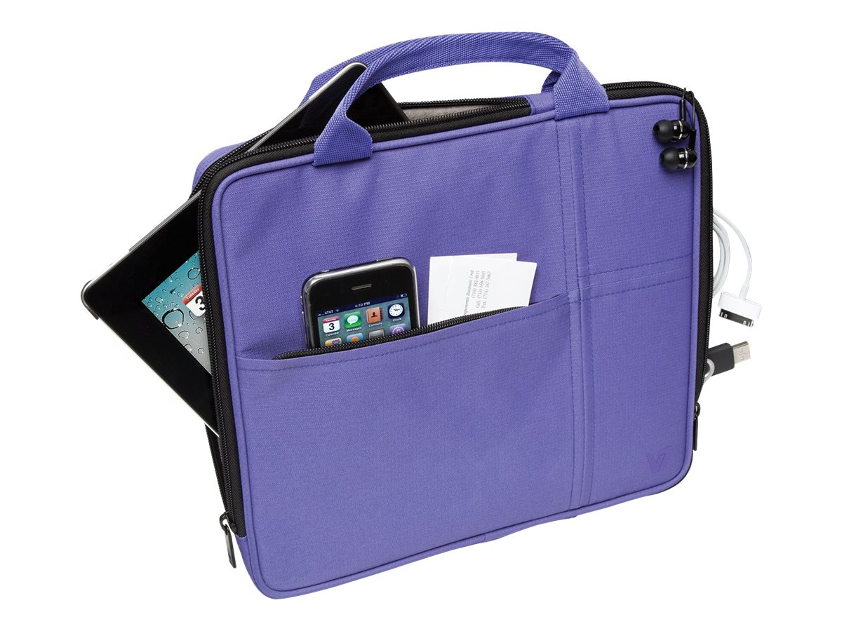 V7 Attache Slim Case for Tablet PC 9.7, iPad 1 2 3 4, iPad Air, Purple