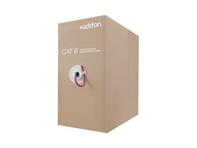 Add On Cat6 UTP Non-Terminated PVC Copper Patch Cable, Red, 1000ft