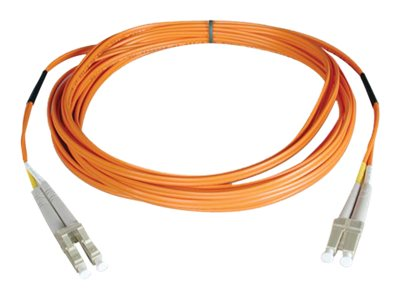 Tripp Lite Fiber Patch Cable, LC-LC, 50 125, Duplex, Multimode, Orange, 15m, N520-15M, 454666, Cables