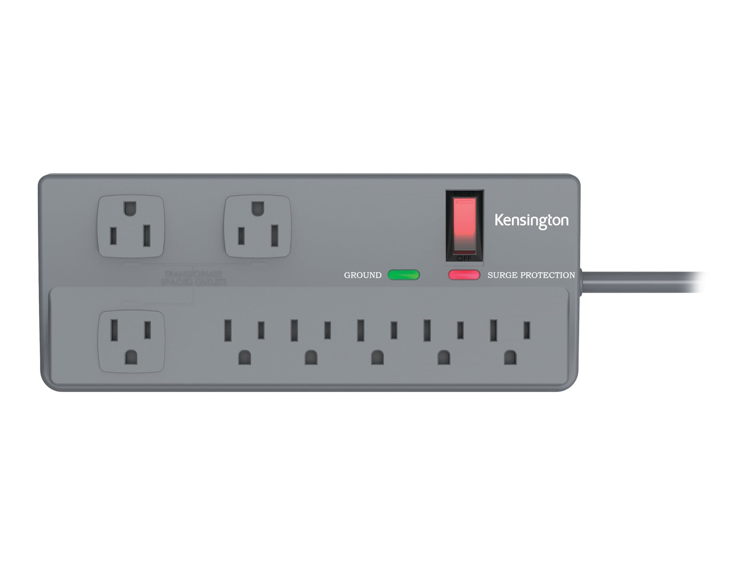 Kensington Guardian Premium Surge Strip, 1080 Joules (8) Outlets 6ft Cord