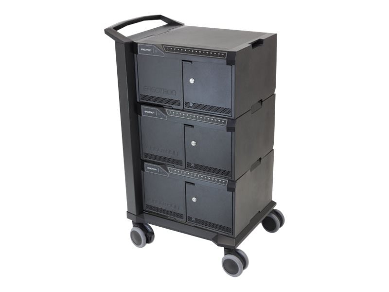 Ergotron Tablet Management Cart 48, with ISI for iPad, 24-329-085, 15265061, Computer Carts