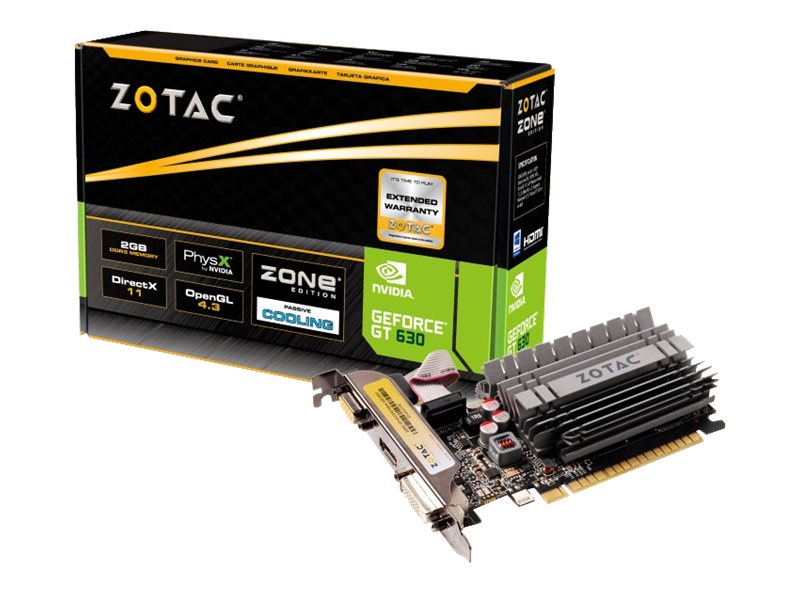 Zotac NVIDIA GeForce GT 630 PCIe 2.0 x16 Zone Edition Graphics Card, 2GB DDR3, ZT-60416-20L, 17596998, Graphics/Video Accelerators