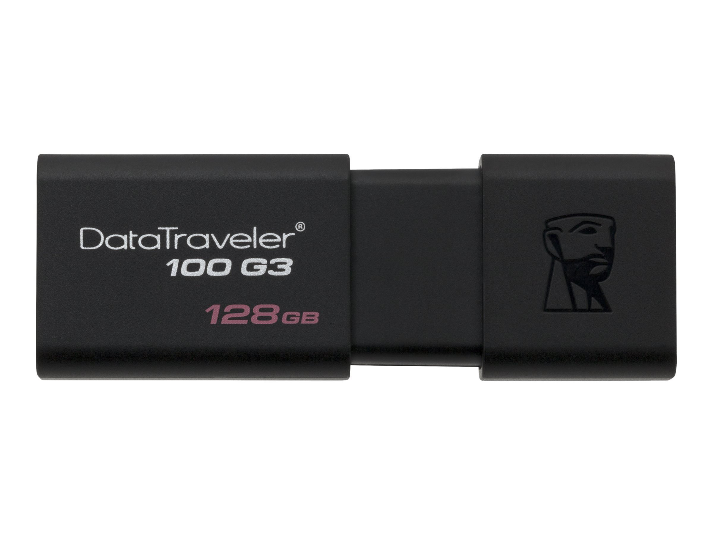 Kingston 128GB DataTraveler 100 G3 USB 3.0 Flash Drive, DT100G3/128GB, 30761222, Flash Drives