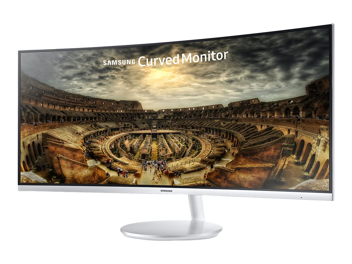 Samsung 34 CF791 Curved Ultra HD LED Widescreen Monitor, White, LC34F791WQNXZA