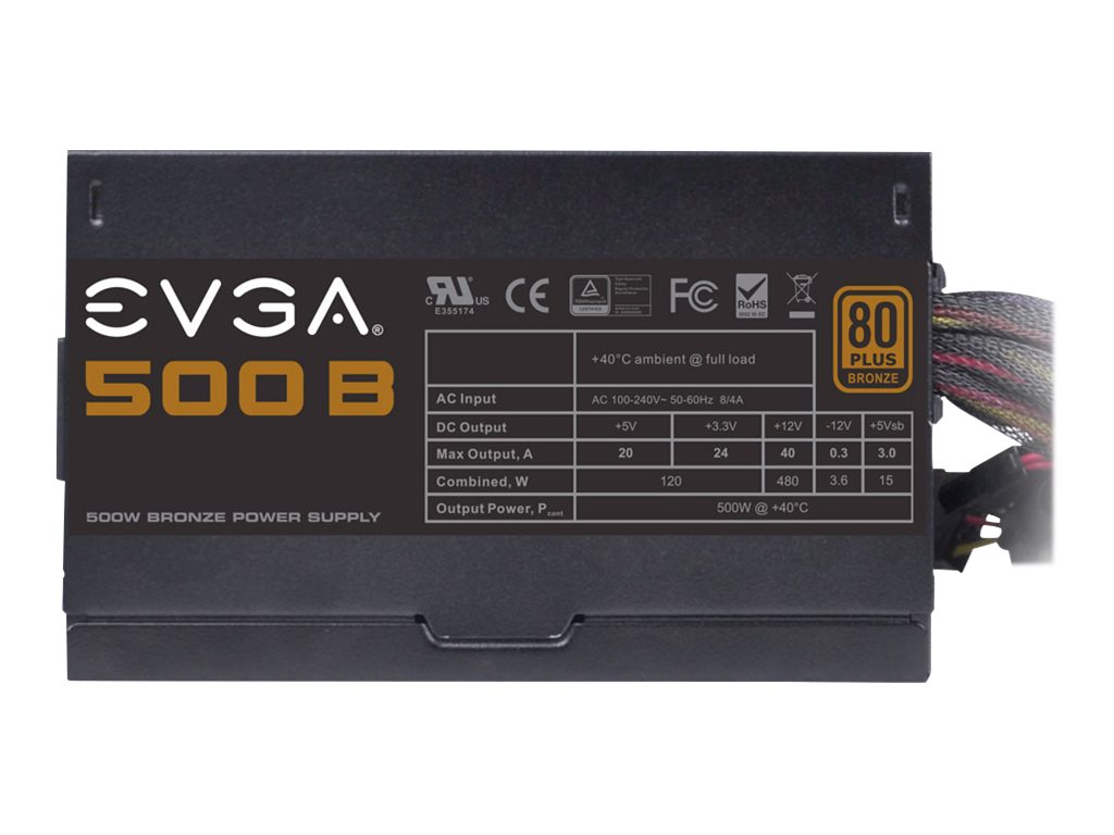 eVGA 500W Bronze Power Supply, 100-B1-0500-KR