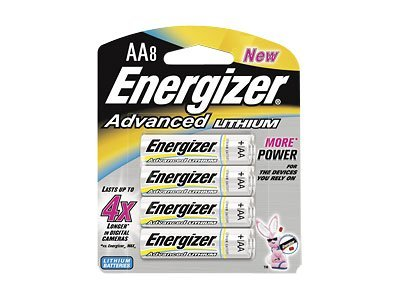 Energizer Battery, Advanced Lithium AA (8-pack), EA91BP-8, 9556208, Batteries - Other